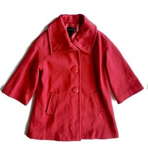 MNG Double Breasted Red Coat